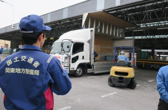 日本自動車ターミナル、板橋TTで首都直下地震防災訓練