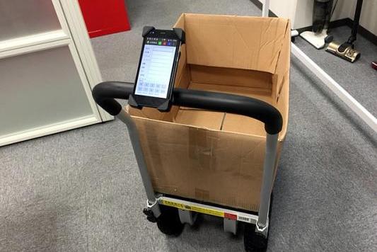 ECロボ、Androidスマホ活用した低コストピッキングカート