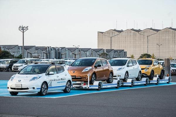 日産、自動運転技術用いた完成車無人搬送を導入