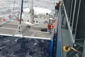 日本郵船、バミューダ諸島沖で遭難した乗組員6人救助
