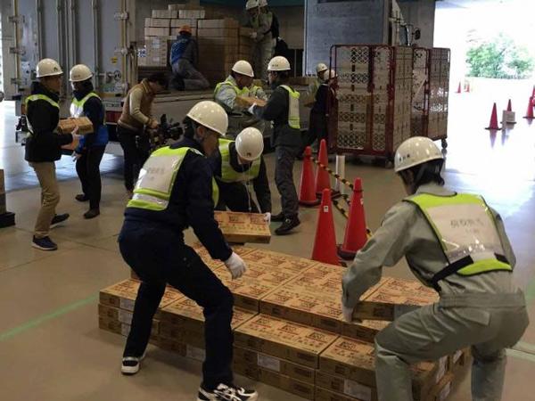 香川県、高松市で災害時の支援物資物流訓練