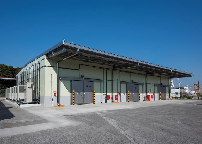 日陸、千葉物流センターの危険物温度管理倉庫竣工