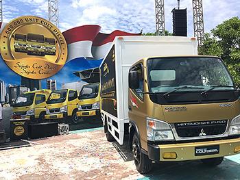 三菱ふそう、インドネシアでキャンターが販売台数100万台到達