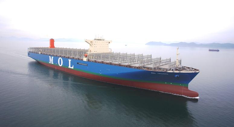 商船三井、2万個積みの世界最大コンテナ船完成