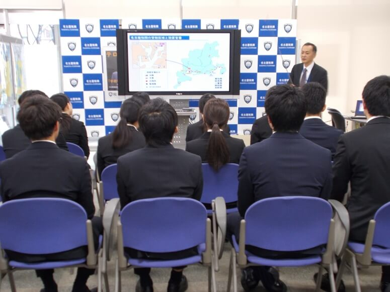 名古屋税関、旭運輸社員15人の訪問受入れ(1)
