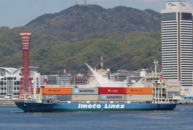 井本商運、499総トン型コンテナ船神戸初入港