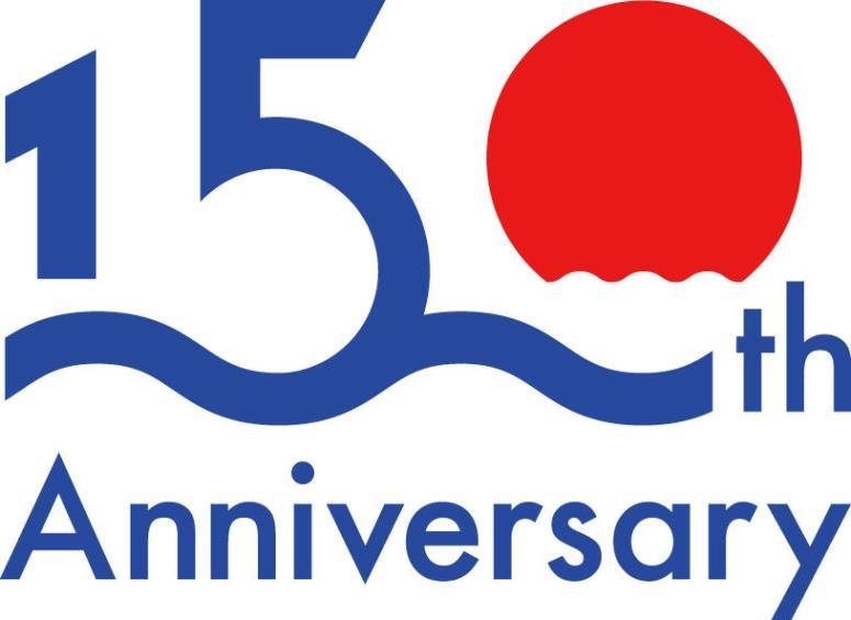 上組、創業150年迎え記念ロゴ作成