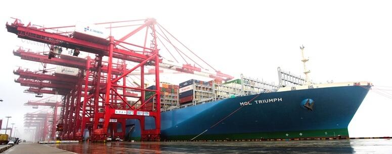 商船三井、世界最大コンテナ船が上海に寄港