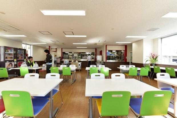 食堂(東京貨物ターミナル駅事務所棟)
