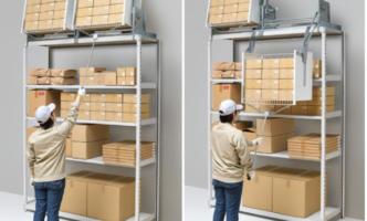 物流倉庫向け昇降棚発売、日立物流が200台導入